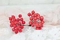 """Искусственные ягоды шиповника. """"Сицилийський апельсин"""" цвета 40 шт, фото 1"""
