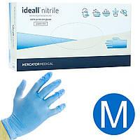 Перчатки нитриловые неопудренные Ideall Mercator M 100 шт