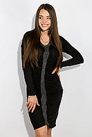 Платье с вязанной вставкой 516F294 (Черный)