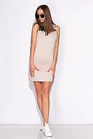 Платье-туника женское 516F310-1 (Светло-бежевый)