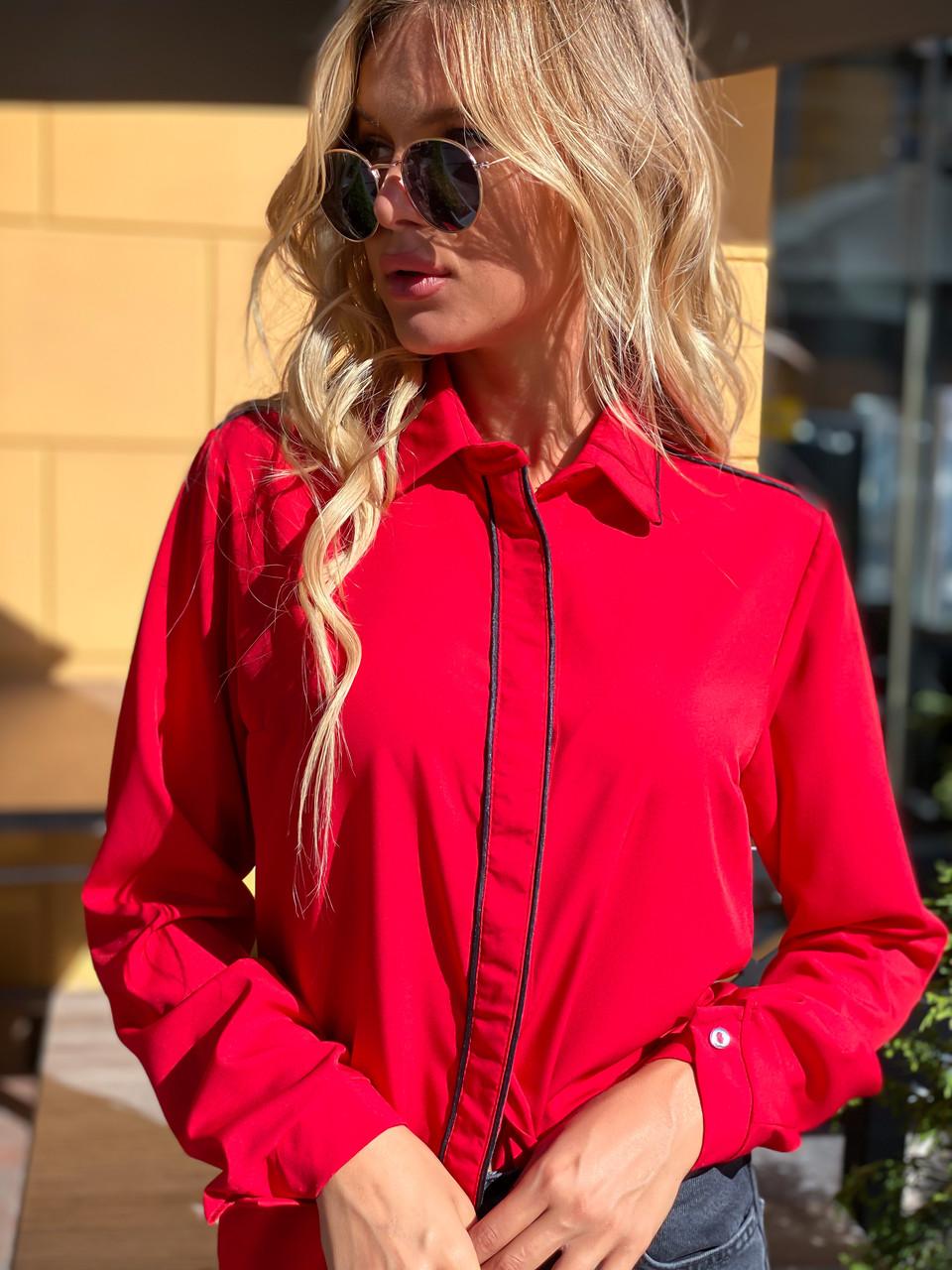 Блузка 641 красная