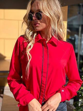 Блузка 641 красная, фото 2