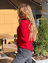 Блузка 641 красная, фото 3