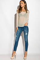 Прозрачная блуза-сетка женская, цвет Песочный