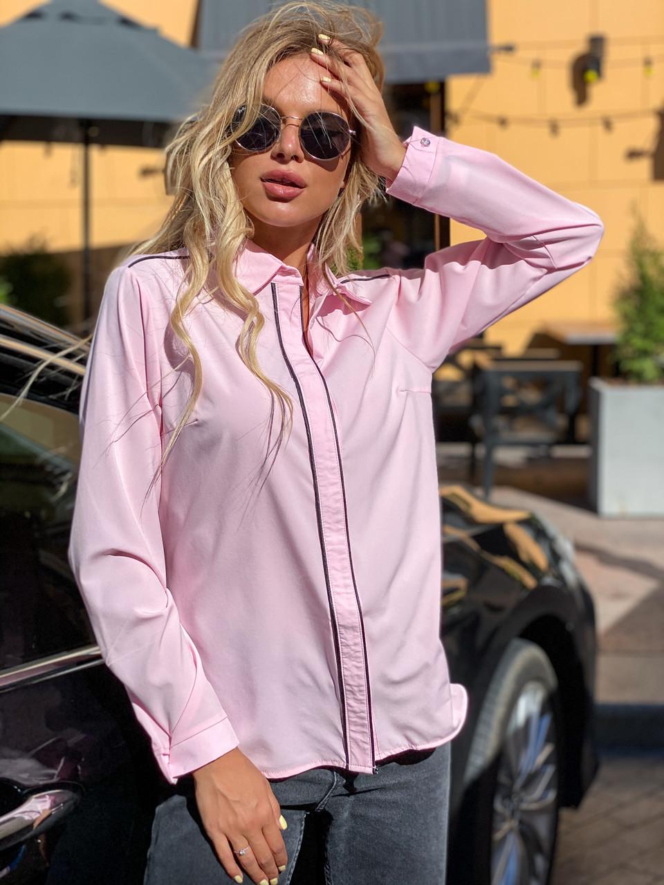 Блузка 641 розовая
