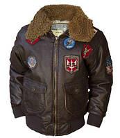 Детский бомбер Top Gun Kids PU Aviator Bomber TGK1103 (Brown)