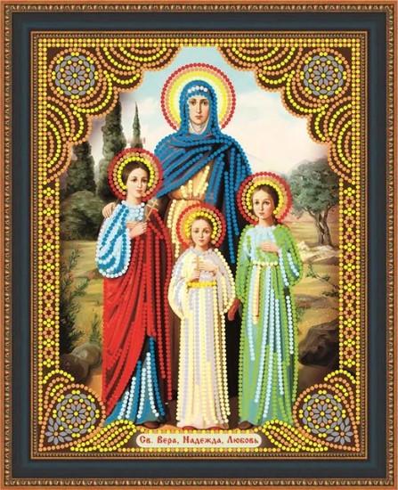 КФ-10. Алмазная мозаика Икона Вера, Надежда, Любовь и их мать София