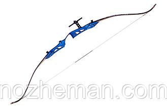Классический лук олимпийского типа Марвел 2, рукоять из анодированного алюминия синего цвета