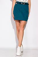 Стильная джинсовая юбка 148P201 (Темно-бирюзовый) S