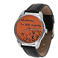 """Часы наручные """"Late"""" разные цвета Рыжий-черный"""