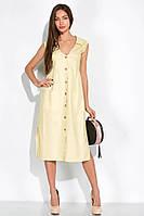 Летнее платье 103P491 (Светло-желтый)