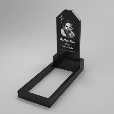 Гранітний пам'ятник на могилу (80-40) Б-04