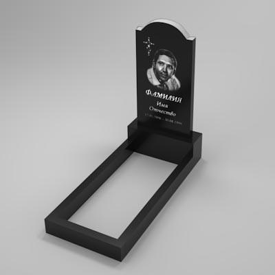 Гранітний пам'ятник на могилу (80-40) Б-06