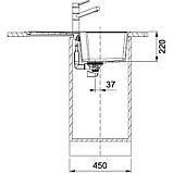 Гранитная мойка Franke Urban UBG 611-78 фраграфит ваниль 78*50 см, фото 2