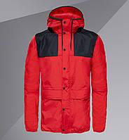 Куртка мужская. Ветровка Colorblock Mountain Windbreaker красная
