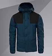 Куртка мужская. Ветровка Colorblock Mountain Windbreaker синяя