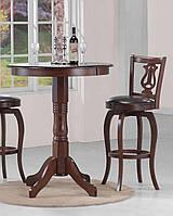 Стол барный Адажио 915*915*1080 (каштан)