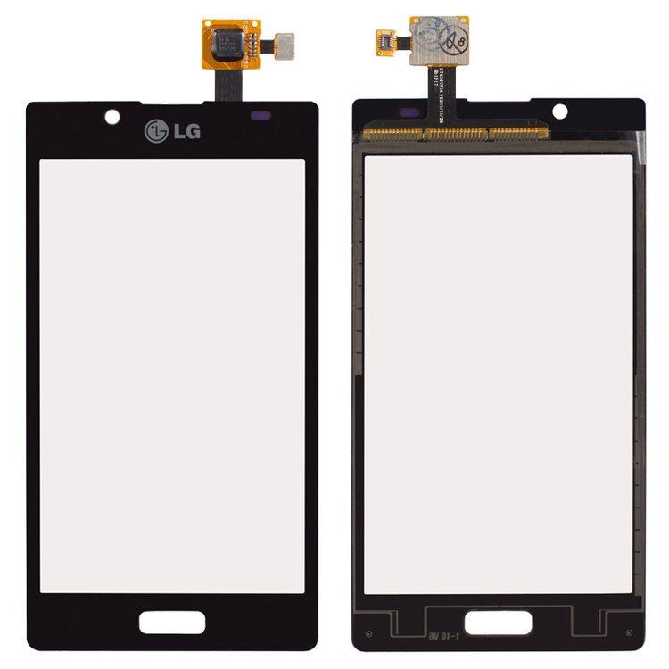 Сенсорный экран (тачскрин) LG P705 Optimus L7 | P700, черный