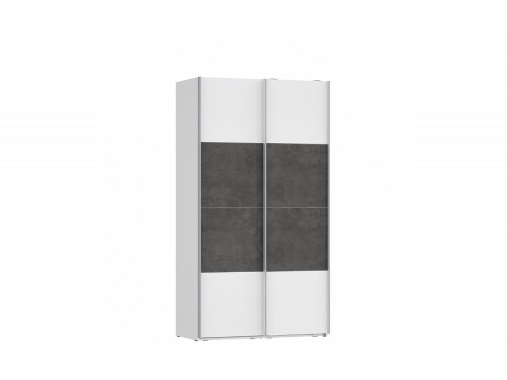 Шкаф-купе OVES82453-C594 OLIVIA Forte белый/бетон темно-серый