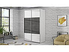 Шкаф-купе OVES82453-C594 OLIVIA Forte белый/бетон темно-серый, фото 3