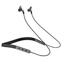 Беспроводная гарнитура для спорта Bluetooth наушники Gelius Crossfade GP H-1050 Black/Grey, фото 3