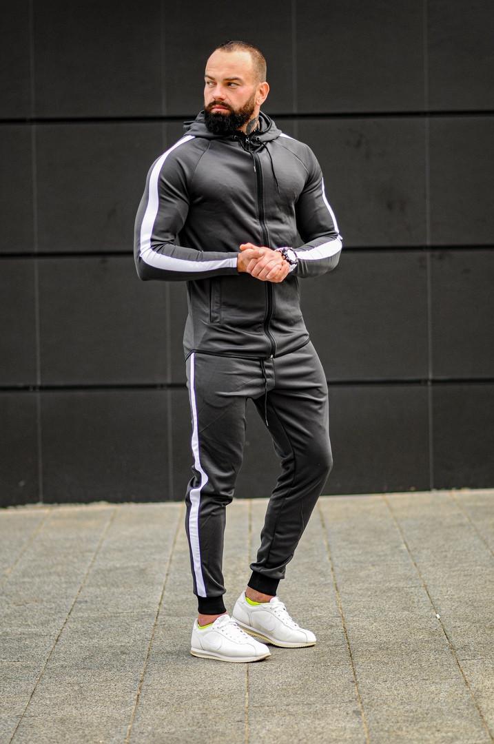 Мужской спортивный костюм Asos tech-diving (серый)