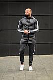 Мужской спортивный костюм Asos tech-diving (серый), фото 2