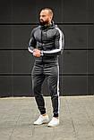 Мужской спортивный костюм Asos tech-diving (серый), фото 3