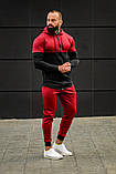 Мужской спортивный костюм Asos tech-diving (красный), фото 3