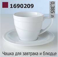 Чашка для завтрака с блюдцем Hotel (380 мл)BergHOFF 1690209