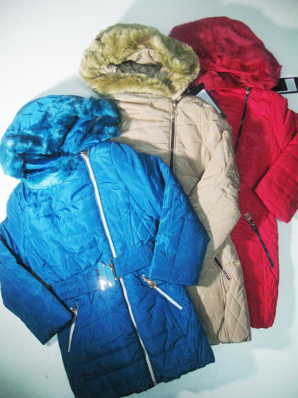 Куртка-пальто  для девочек на меховой подкладке, размеры 11/12(2шт),13/14 лет, Nature, арт. 2684