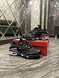 Чоловічі кросівки Nike Air Max TN Plus Black Blue, фото 3