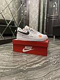 Чоловічі і жіночі кросівки Nike Air Force Just Do It Pack White/Black., фото 4