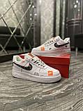 Чоловічі і жіночі кросівки Nike Air Force Just Do It Pack White/Black., фото 5
