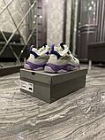 Жіночі кросівки Balenciaga Triple S Clear Sole Violet White, фото 3