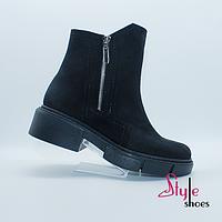 Женские нубуковые ботинки, фото 1