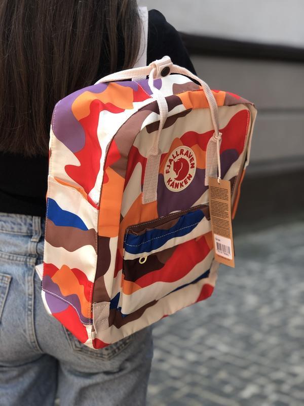 Модный женский рюкзак-сумка канкен Fjallraven Kanken classic 16 л камуфляж