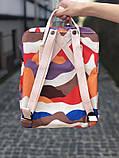 Модный женский рюкзак-сумка канкен Fjallraven Kanken classic 16 л камуфляж, фото 3