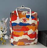 Модный женский рюкзак-сумка канкен Fjallraven Kanken classic 16 л камуфляж, фото 7