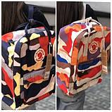 Модный женский рюкзак-сумка канкен Fjallraven Kanken classic 16 л камуфляж, фото 8
