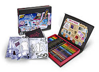 Чемодан набор для творчества создай свой стиль Crayola fashion superstar coloring book and app