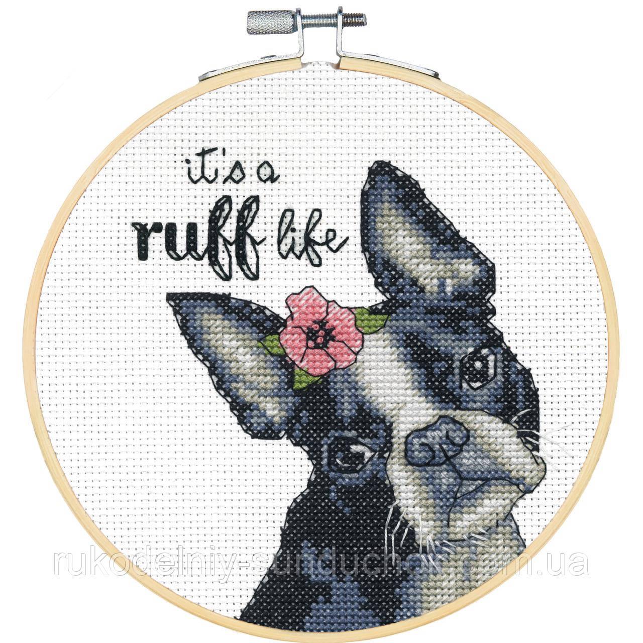 """Набір для вишивання Dimensions 72-76108 """"Собаче життя"""" (Ruff Life)"""