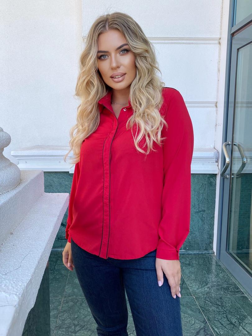 Женская блузка большого размера.Размеры:50/54.+Цвета