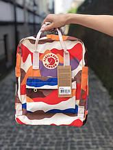 Рюкзак-сумка канкен камуфляж Fjallraven Kanken classic 16 л женский, школьный, городской