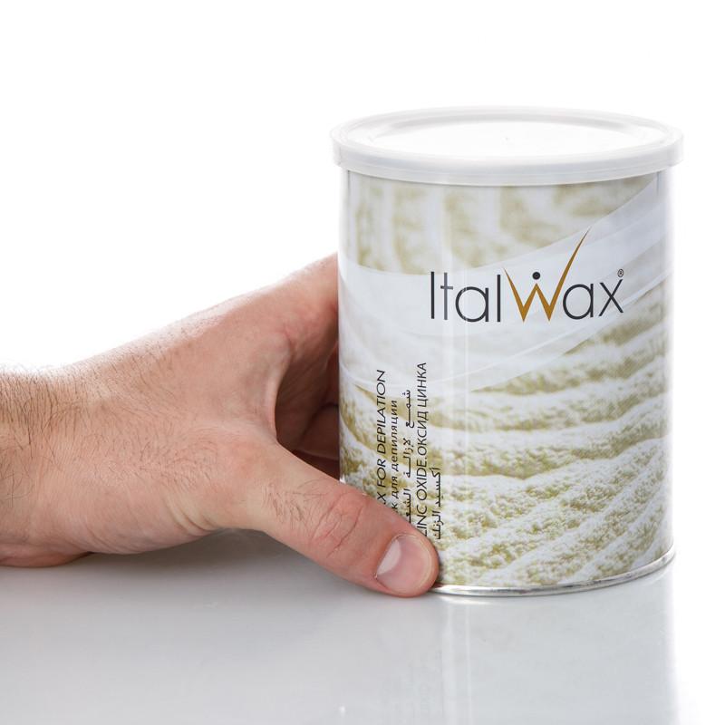"""Теплый, плотный кремовый воск для депиляции с тальком в банке """"Оксид Цинка"""", 800 мл ItalWax"""