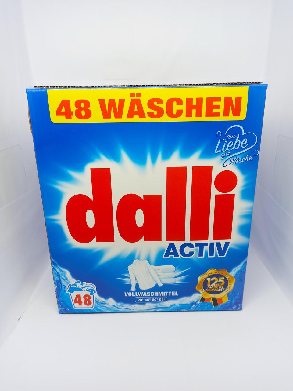Пральний порошок для білого Dalli Vollwaschmittel Оригінал 3.12 кг 48 прань безфосфатний