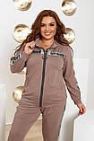 Спортивний костюм двійка кофта на блискавці і штани з лампасами розмір батал: 52-54, 56-58, 60-62, фото 5