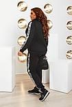 Спортивний костюм двійка кофта на блискавці і штани з лампасами розмір батал: 52-54, 56-58, 60-62, фото 7