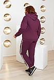 Спортивный костюм двойка батник и штаны размер батал: 52-54, 56-58, 60-62, фото 5