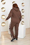 Спортивный костюм двойка батник и штаны размер батал: 52-54, 56-58, 60-62, фото 4